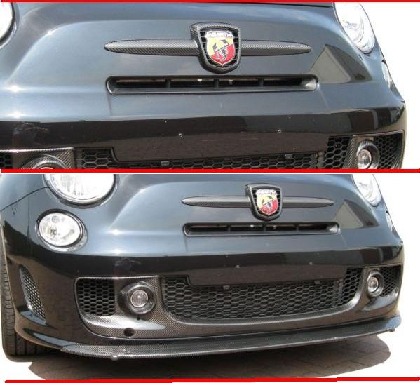 500 ABARTH MY2008-  CARBONIO: RIVESTIMENTO FREGIO STEMMA ANTERIORE - altra categoria